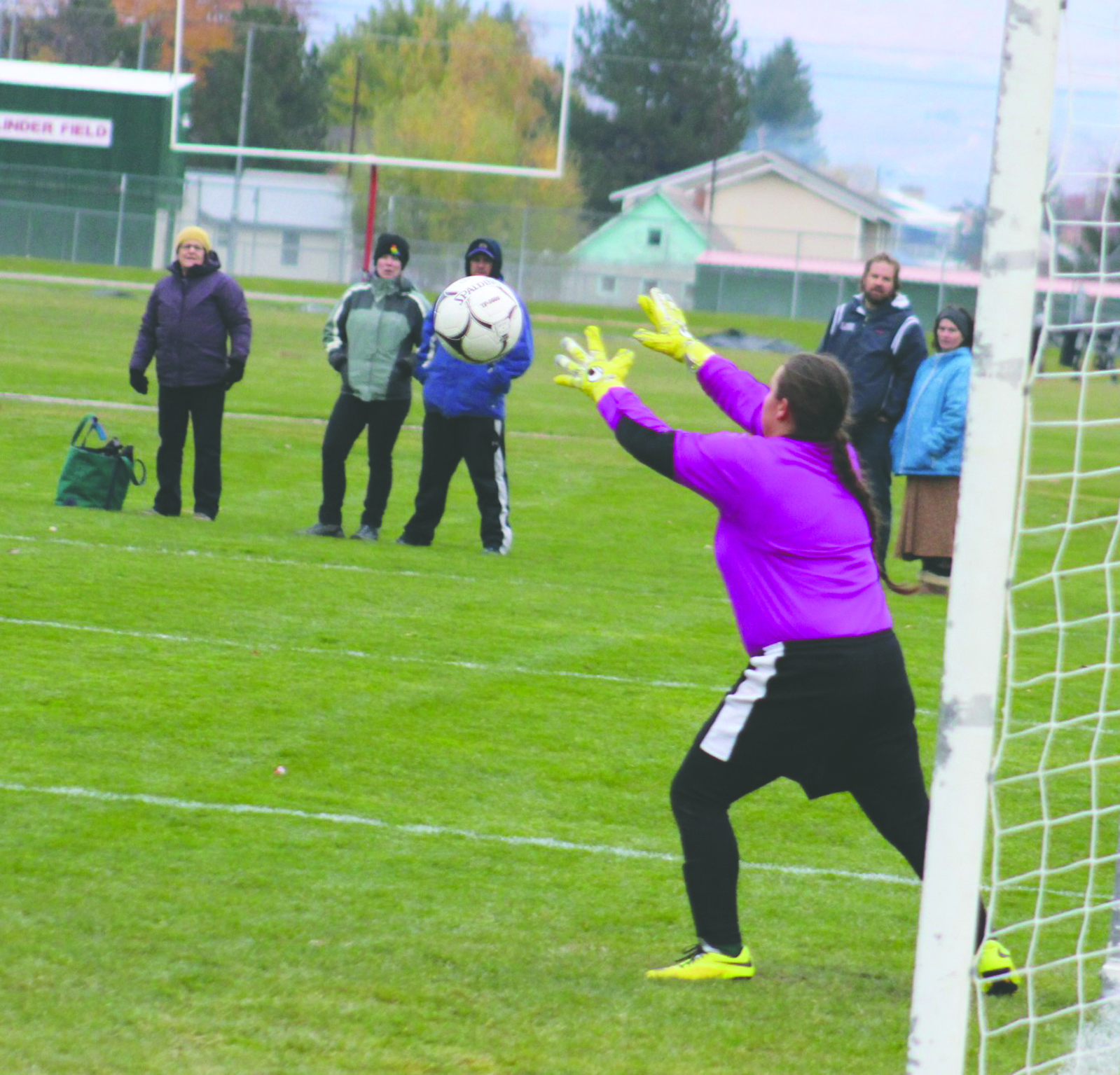 Is Liberty Bell goalkeeper Lauren Ochoa, who is there to prevent a sure score.